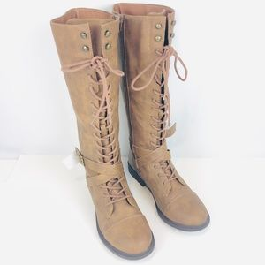 Brand New Brash Lace Up Tall Riding Boot 9.5